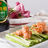 三文鱼金针菇卷