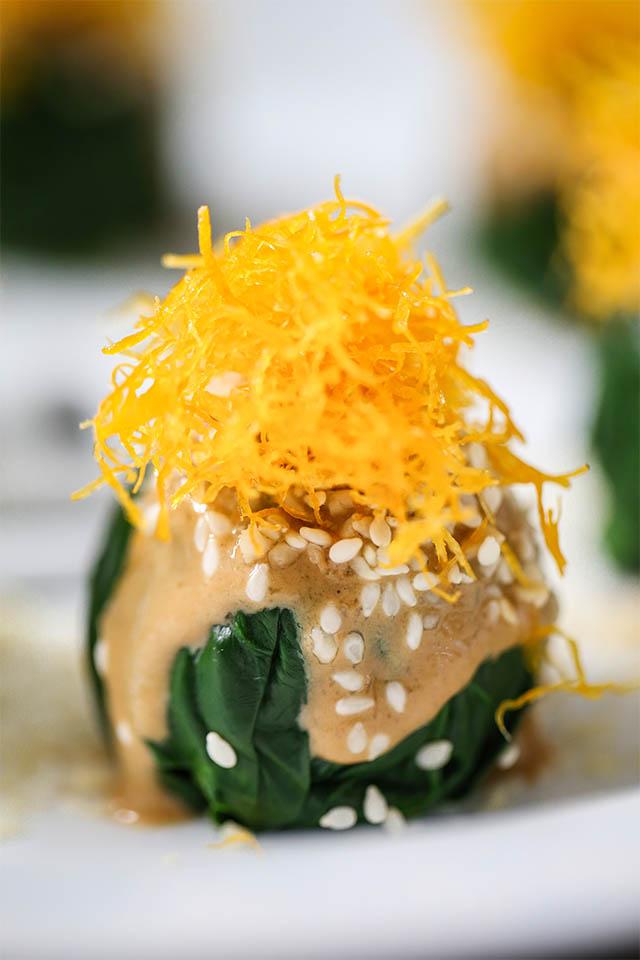 段誉创作菜品——麻酱菠菜